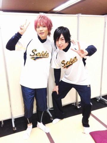 最後は、新たに東条秀明役として青道メンバーに加わった蒼井翔太くんと!これからよろしく頼むぜ!
