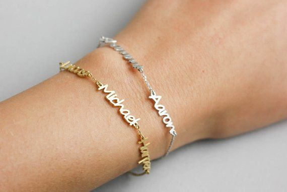 e818267c58 Kids Name Bracelet, Custom Name Bracelet, Name Bracelet, Personalized  Jewelry, Couple's Bracelet, Bf