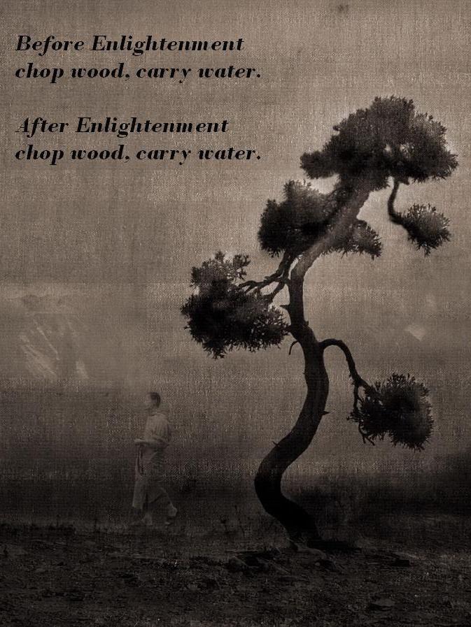 Chop Wood Carry Water Thought Food Zen Quotes Zen Proverbs Zen
