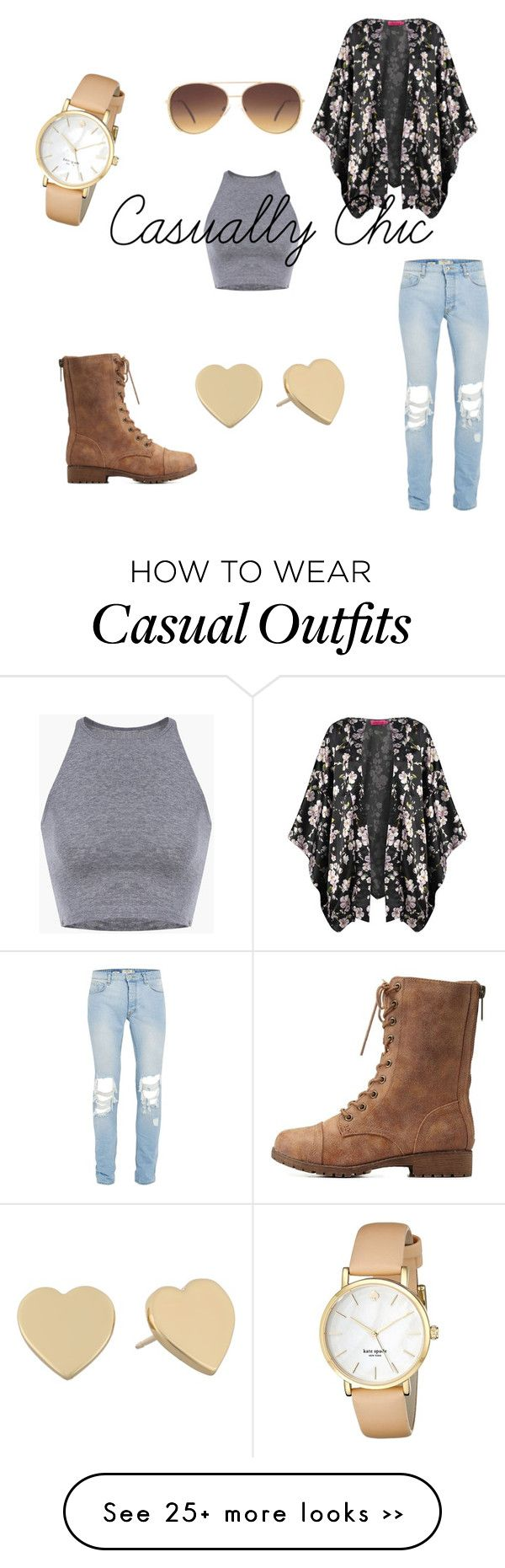 """""""Casually Chic"""" by darrlinng on Polyvore featuring Lane Bryant, Boohoo, Charlotte Russe and Kate Spade"""