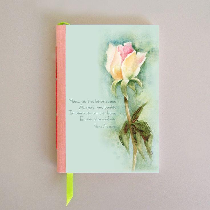 Sketchbook  - Botão de Rosa-Ilustração de Dilce Laranjeira - DG2Escritório de Arte