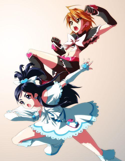 Nagisa & Honoka as Cure Black & Cure White