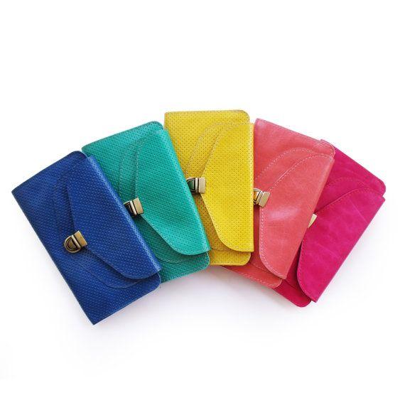 Leather wallet, Royal blue wallet, Women's wallet, Handmade wallet, sale