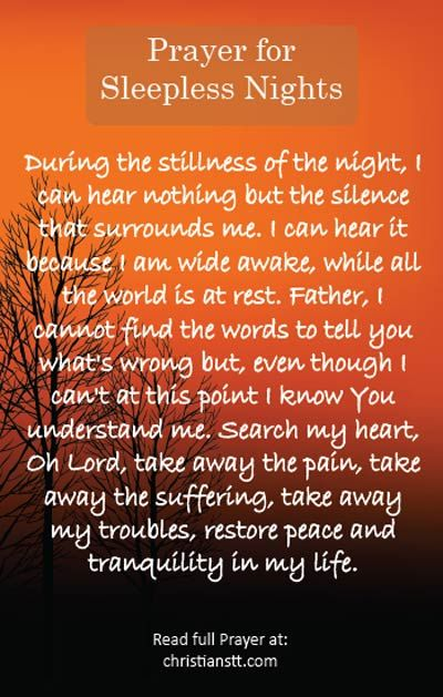 Prayer for Sleepless Nights. Spiritual Warfare Prayer.  Psalm 4:8 - I will lie down and sleep in peace, for you alone, O LORD, make me dwell in safety.
