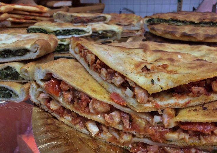 Tiella...stuffed pizza...from Sperlonga; so mouthwateringly delicious!