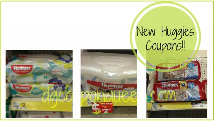 New Huggies Wipes, Diapers, Goodnites and Pull-Ups Coupons - Huggies Diapers only $5.50! - DG Coupon Queen