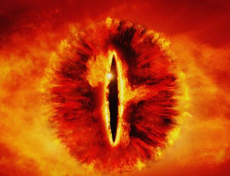 The image is eerily reminiscent of the Eye of Sauron from the Lord of the Rings films.