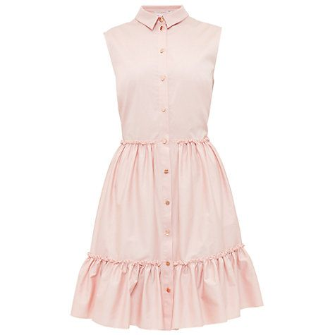 Buy Ted Baker Daikota Sleeveless Collared Dress, Dusky Pink Online at johnlewis.com