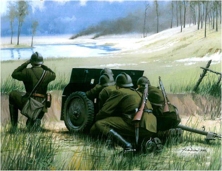37 mm armata przeciwpancerna wz..36 Bofors Rys. Arkadiusz Wróbel.