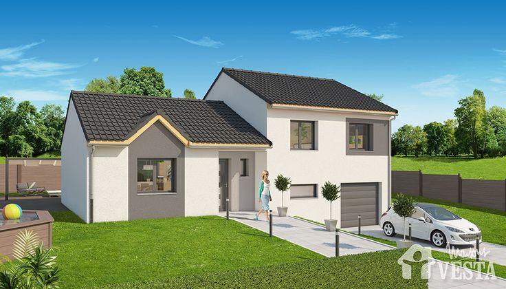 Maisons vesta mod le margarita demi niveau f5 surface for Modele maison vesta