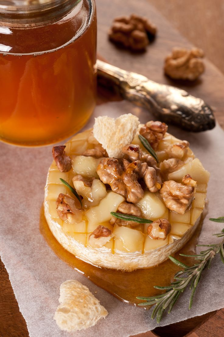 Baked Camembert with Honey and Pecans  - Powered by @ultimaterecipe