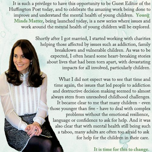 LONDON, ENGLAND - FEBRUARY 17: Catherine, Duchess of Cambridge talks to children from the 'Real Truth' video blog that features on the Huffington Post website at Kensington Palace on February 17, 2016 in London, England
