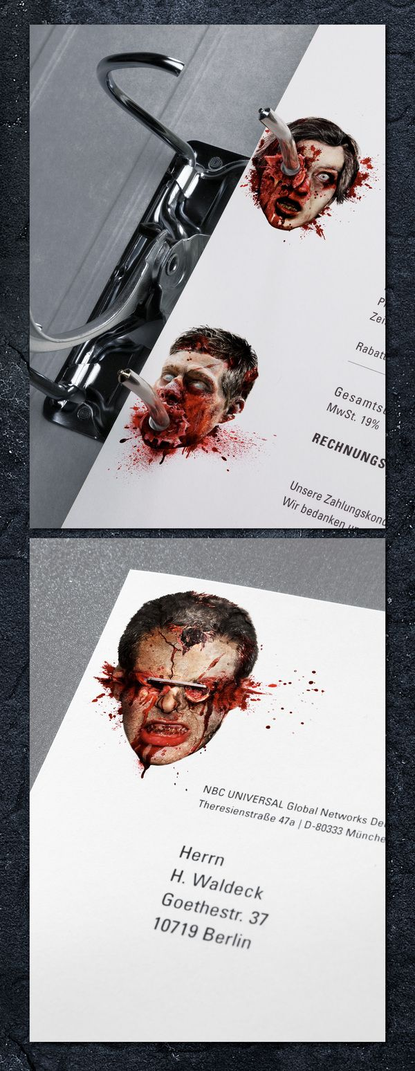 "13th Street ""Stationery of Horror"" (Design) by Jacques Pense, via Behance"