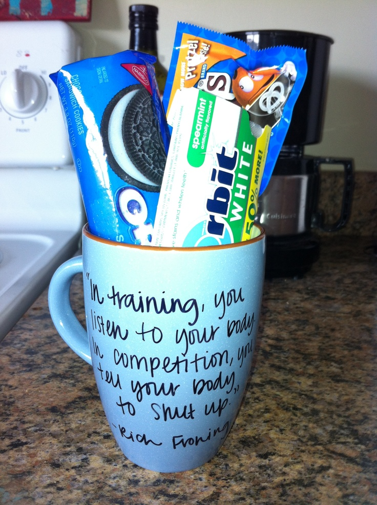 "DIY sharpie mug with the boyfriends favorite goodies inside make for the perfect ""just because gift""!"