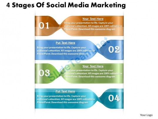 1013 busines ppt diagram 4 stages of social media marketing