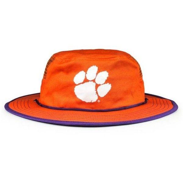 Cowbucker  Clemson Tigers Spirit Mesh Bucker Hat (2.125 RUB) ❤ liked on Polyvore featuring men's fashion, men's accessories, men's hats, medium orange, mens wide brim hats, men's brimmed hats and mens mesh hats