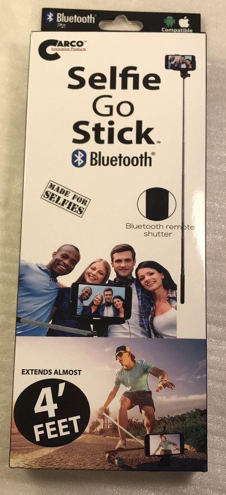 Selfie Stick Phone Blue Tooth Carco 4 Feet Smartphone iPhone Technology  | eBay