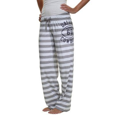 Dallas Cowboys Ladies Rose Pants - Gray/White