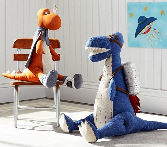 Soft and cuddly, these detailed plush dinosaurs are ready for prehistoric playtime.