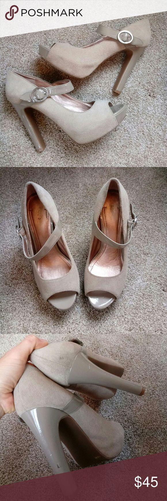 BCBGeneration Neutral High Heels BCBGeneration Neutral High Heels, brand new, a small scuff on heel. BCBGeneration Shoes Heels