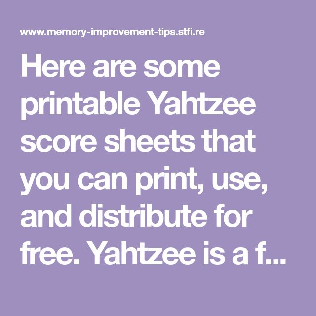 The  Best Yahtzee Sheets Ideas On   Yard Yahtzee