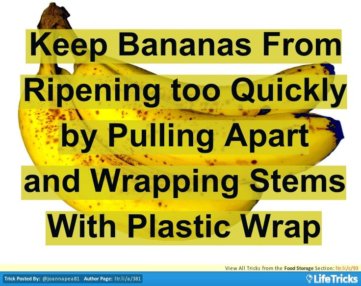 how to stop bananas getting too ripe