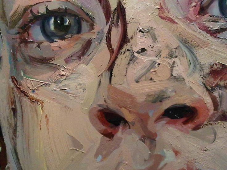 Jenny SAVILLE - Bleach (detail) - oil on canvas - 252,3 x 187,3 cm - 2008