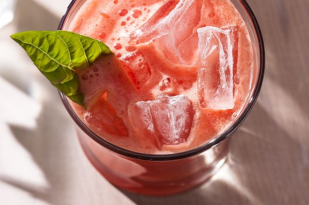 Zapatos Nuevos: Blend tequila, watermelon, lime juice, and agave nectar and pour over ice. A basil leaf garnish adds a bit of fragrant spice.