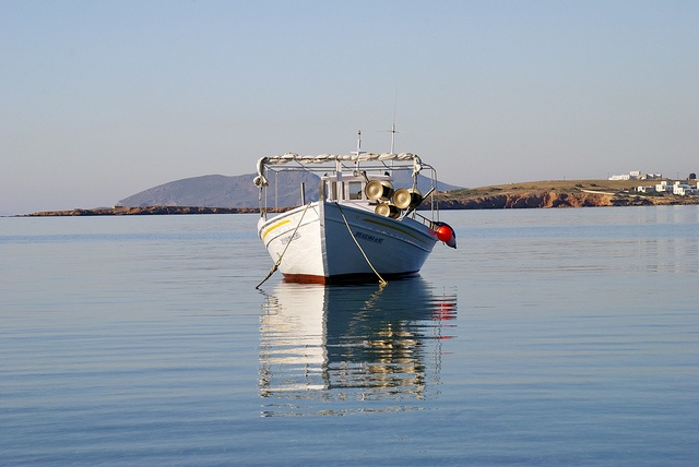 Fishing boat in morning zen