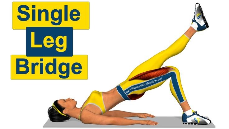 iTunes: http://smarturl.it/butt_ios Play Store: http://goo.gl/XPZX4Y ------------------------------------------------- The Single Leg Bridge is an exercise t...