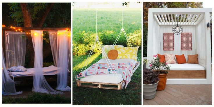 These gorgeous outdoor bedrooms will inspire you to create your own al fresco spot to grab a few winks on a lazy afternoon.