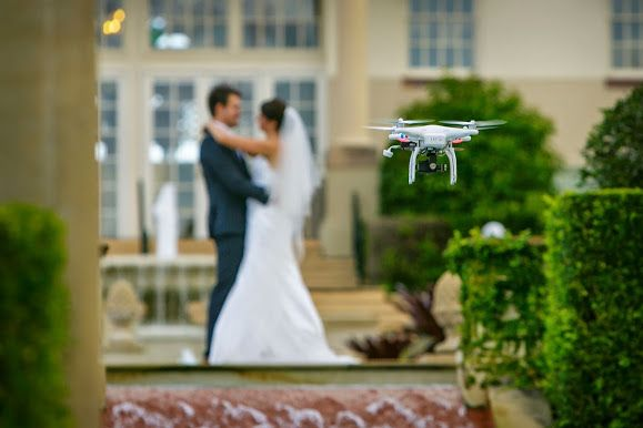 Aerial drone video can give your wedding that 'wow' factor and a unique perspective.