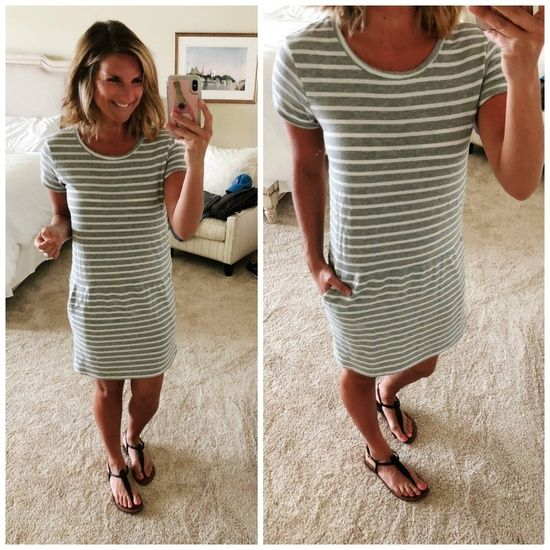 Vacation Wear // What to Wear on Vacation // Casual Vacation Dress // Knit Dress…