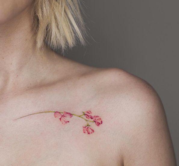 Best 25+ Sweet Pea Tattoo Ideas On Pinterest