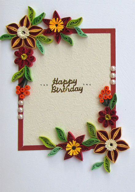 17 best images about quilled birthday cards on pinterest for How to quilling designs
