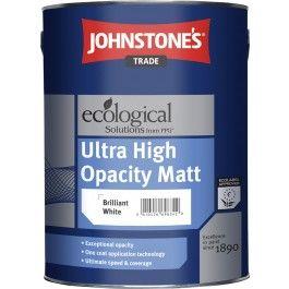 Johnstone's Ultra High Opacity Matt - Brilliant White - 5L http://www.thedecoratingcentre.co.uk/johnstones-ultra-high-opacity-matt-brilliant-white-5l.html