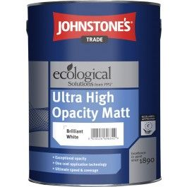Johnstone's Ultra High Opacity Matt - Brilliant White - 5L http://www.thedecoratingcentre.co.uk/johnstones-ultra-high-opacity-matt-brilliant-white-5l.html
