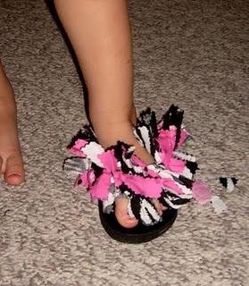 Rag flip flops