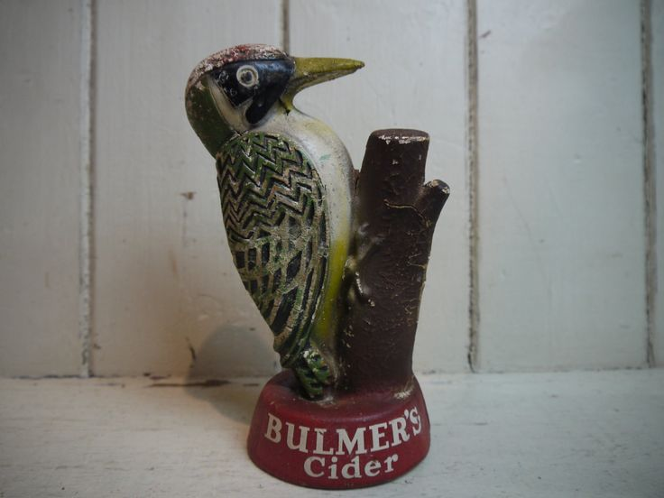 Vintage Woodpecker Bulmer's Cider Bar Figurine - 1950s by VintiqueTree on Etsy