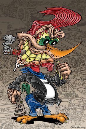 ratfink toons | ... of art cartoon tattoo lowbrow favourite cartoon character rat fink