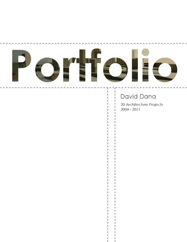 Architecture Portfolio by Taller David Dana - issuu