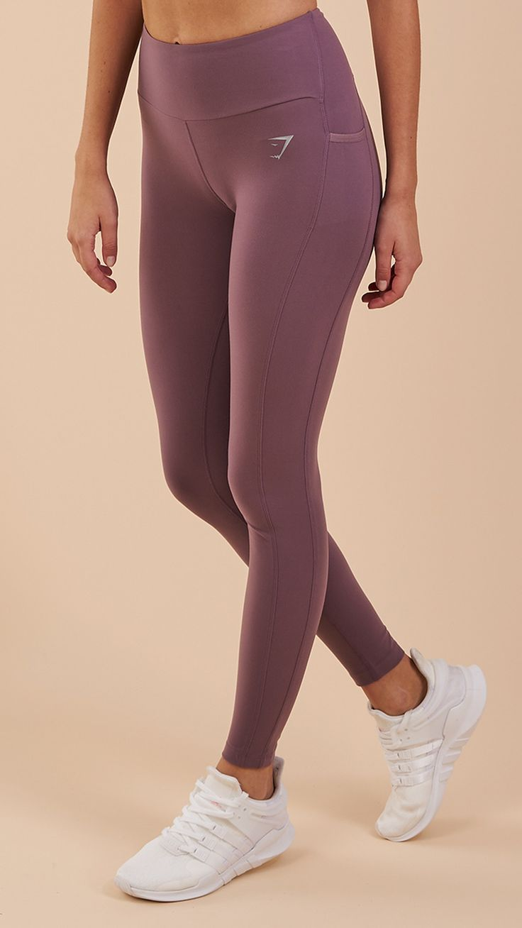 With a flattering high-waisted fit, soft stretch material and DRY moisture management technology, the Gymshark Aspire Leggings will keep you cool and comfortable, allowing you to focus on your workout. Coming soon in Purple Wash. #gymshark