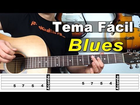 El RITMO más FACIL en GUITARRA | Tutorial Blues - YouTube