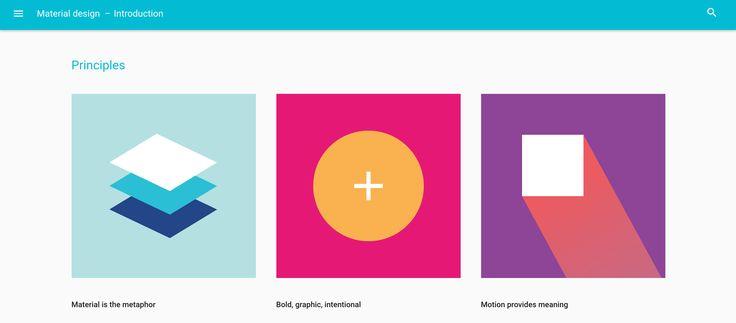 De betekenis van Material design! Belangrijk is de gelaagdheid (opbouwen) het bold gebruik van lettertypen en beweging creëren