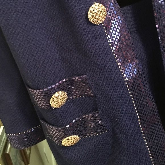 St John by Marie Gray, the diamond district! The fact is it is FANTASTIC! A beautiful St John royal blue suit, hook closure, big brilliant buttons, an eye-popping suit! St John  Jackets & Coats