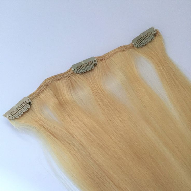Single clip in highlight weft piece    Cleopatra Hair Extensions