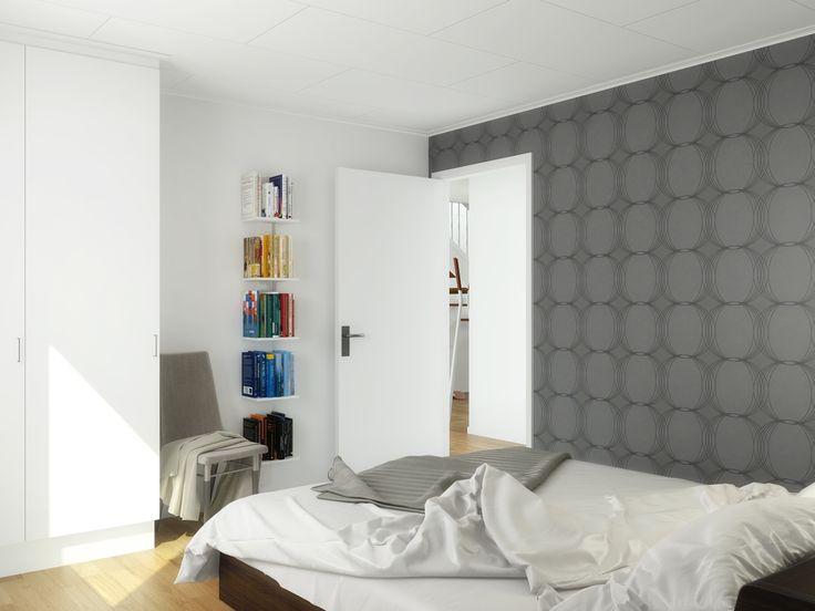 Sovrum i ett Älvsbyhus