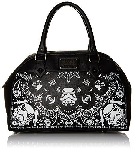 Loungefly Star Wars Storm Trooper Bandana Duffle Satchel Bag, Black, One Size *** To view further for this item, visit the image link.
