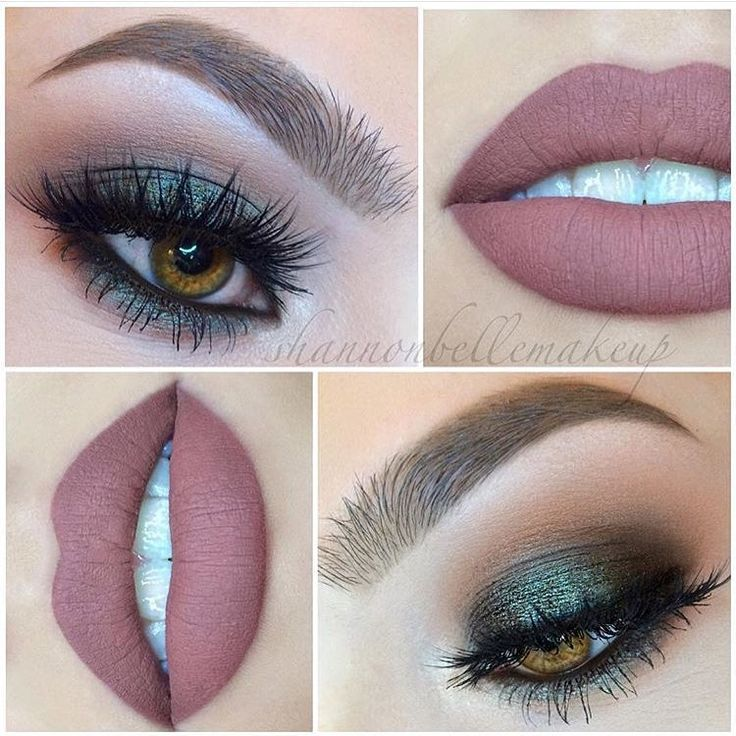 """""""Talk about Saturday night makeup inspo This look by @shannonbellemakeup is stunning #DoseofColors •Truffle• matte liquid lipstick on zé lips with…"""""""