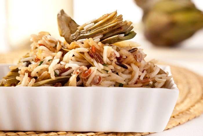 Riso selvatico ai carciofi #Star #ricette #riso #carciofi #food #recipes